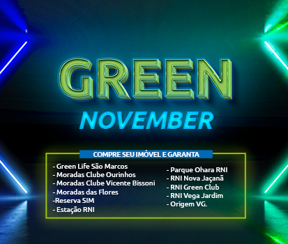 Banner do empreendimento GREEN NOVEMBER